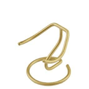 standaard voor miniurn hart in brons goud of zilverkleur