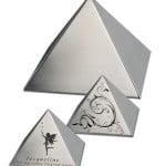Urn Pyramid RVS piramide vormige urn of mini urn