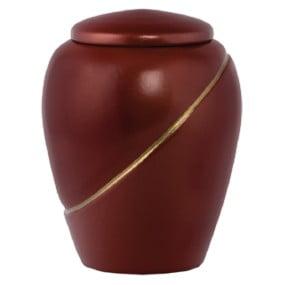 ecologische urn thaïs terracotta-gold