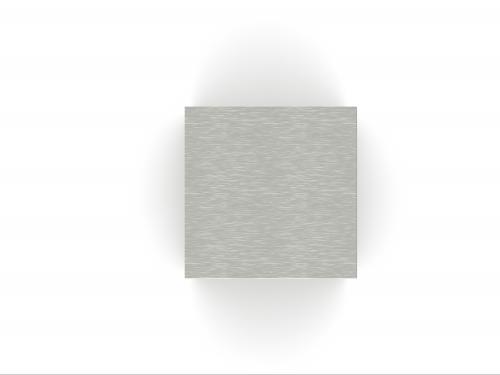 RVS urn kubus vierkant