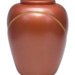 ecologische urn thaïs terracotta gold