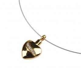 assieraad gold crystal heart