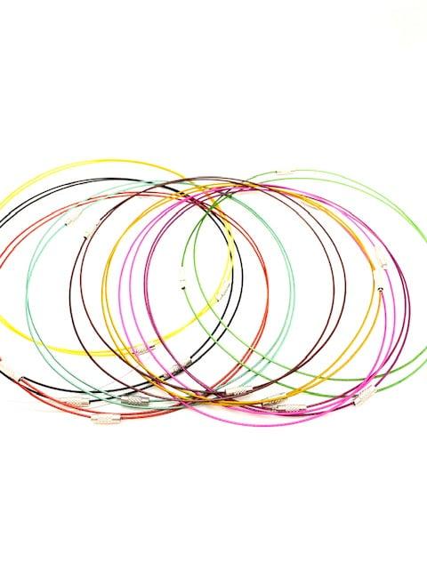 RVS spang ketting diverse kleuren
