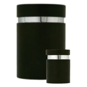 urn of mini urn hout zwart rond