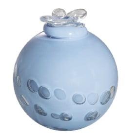 Dali glas urn wit en blauw