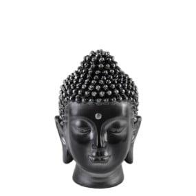 Boedha Head zwart-zilver Small