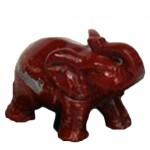 mini urn olifant jaspis rood