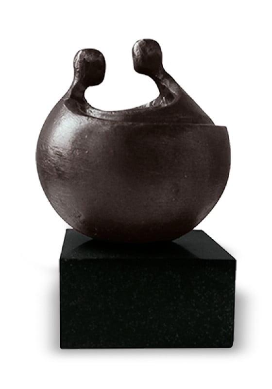 mini urn asbeeld freyja brons