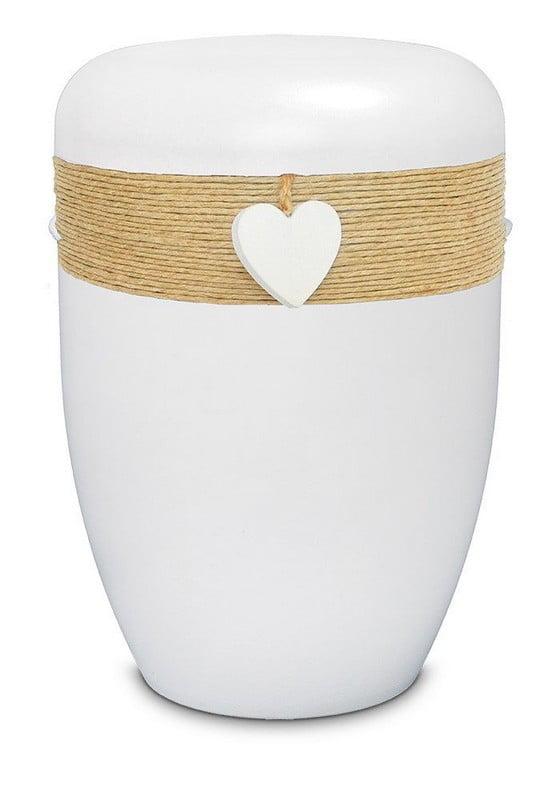 witte jute biologische urn