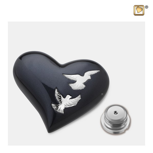 zwarte harte vogel urn Adieu Nirvana Collection