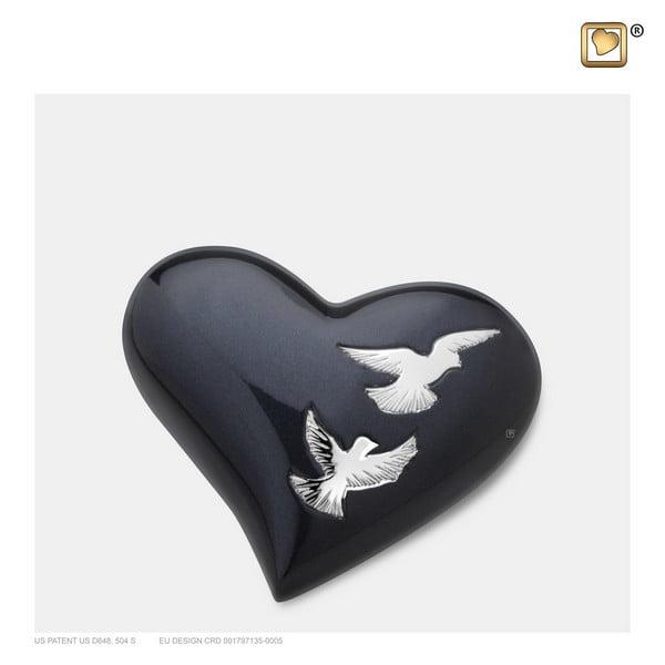 zwart hart vogel urn Adieu Nirvana Collection
