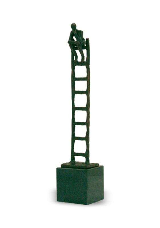 mini urn asbeeld penseur brons