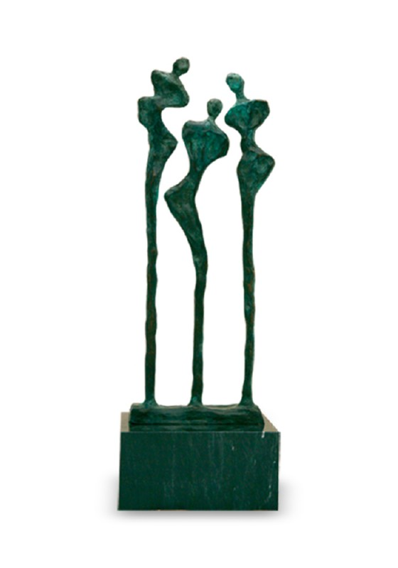 mini urn asbeeld hestia brons