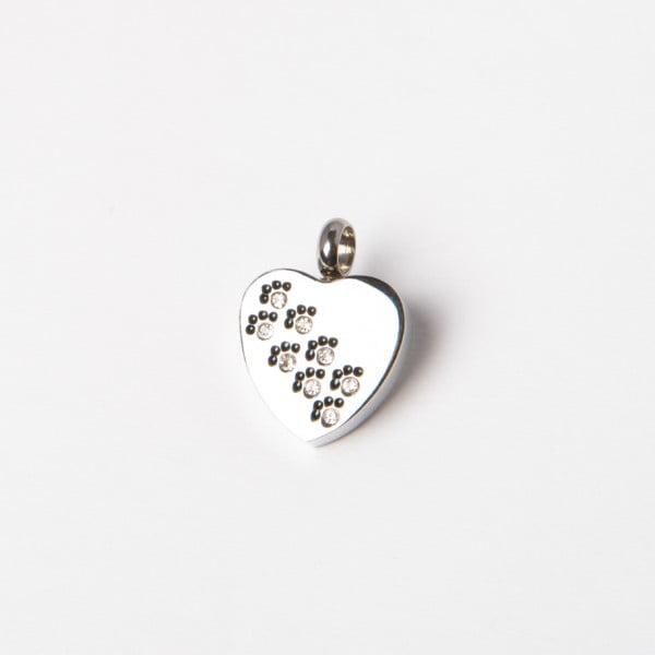 assieraad hart met pootjes strass