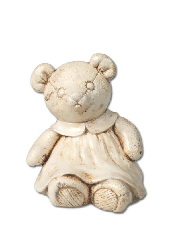 Keramiek urn beer meisje naturel