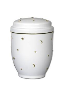 urn wit met sterren en maan