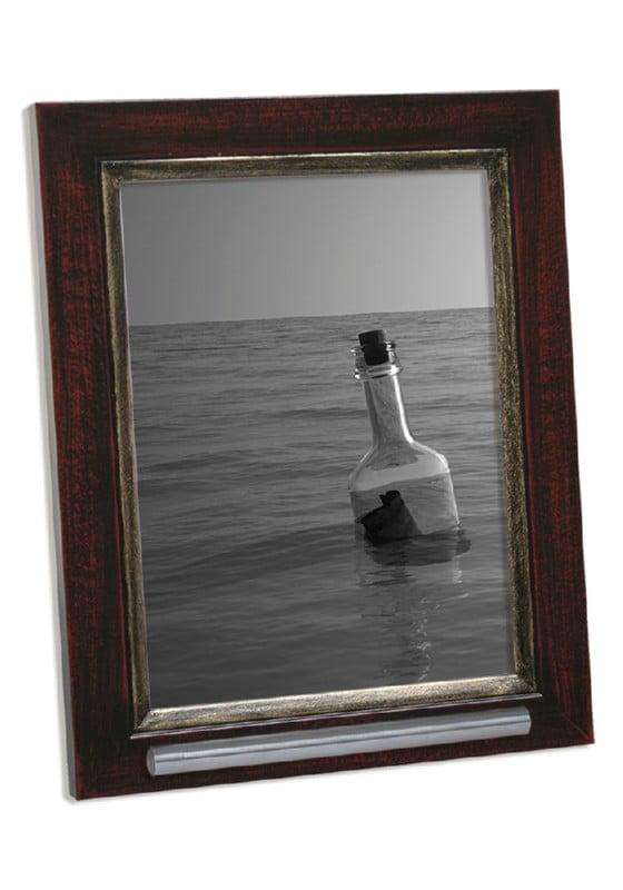 fotolijst met asbusje 13x18 rood-bruin