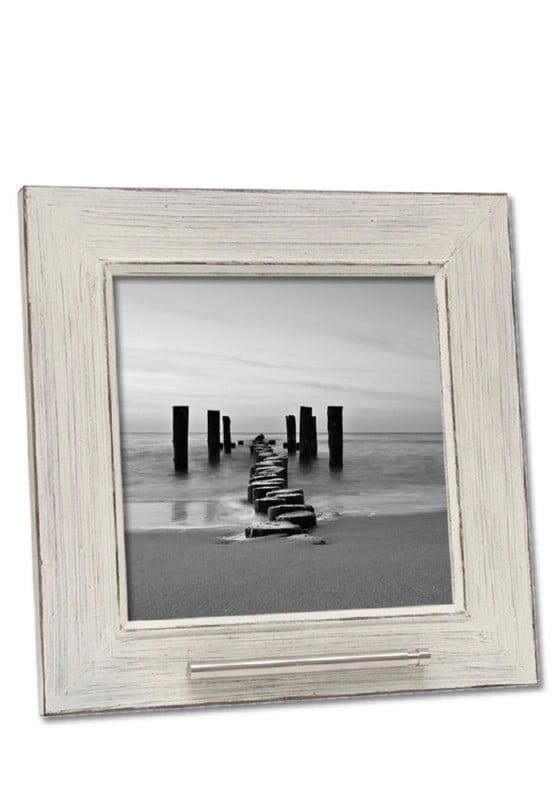 Fotolijst met asbusje 20x20 oud wit