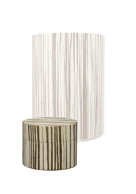 houten mini urn rond zebra