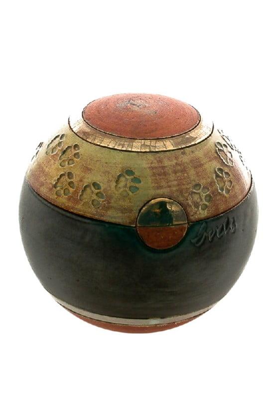 dieren mini urn bolurn S met hondenpootjes of kattenpootjes