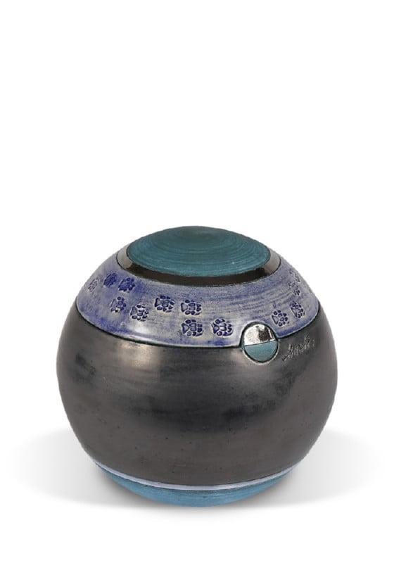 dieren mini urn electric blue met pootjes