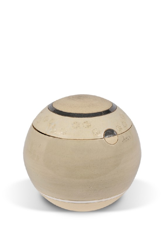 dieren mini urn mocca plat met pootjes