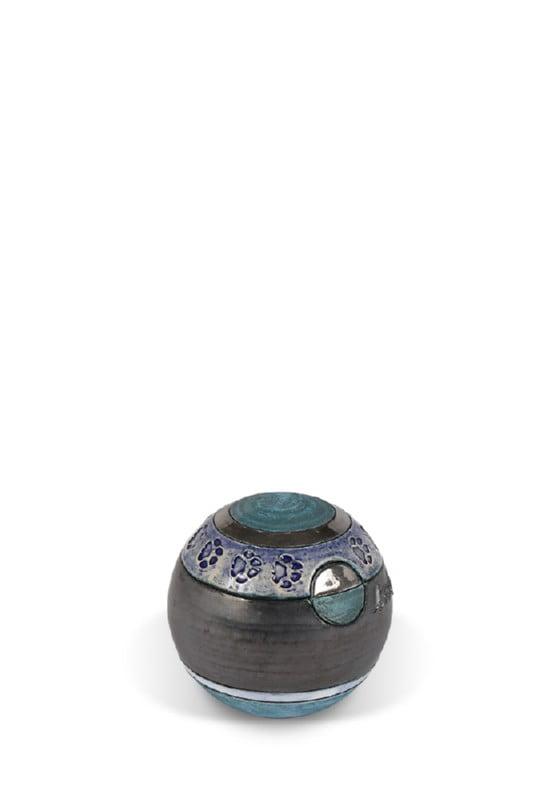 dieren mini urn bolurn XS met hondenpootjes of kattenpootjes
