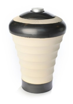 keramiek urn purity naturel zwart