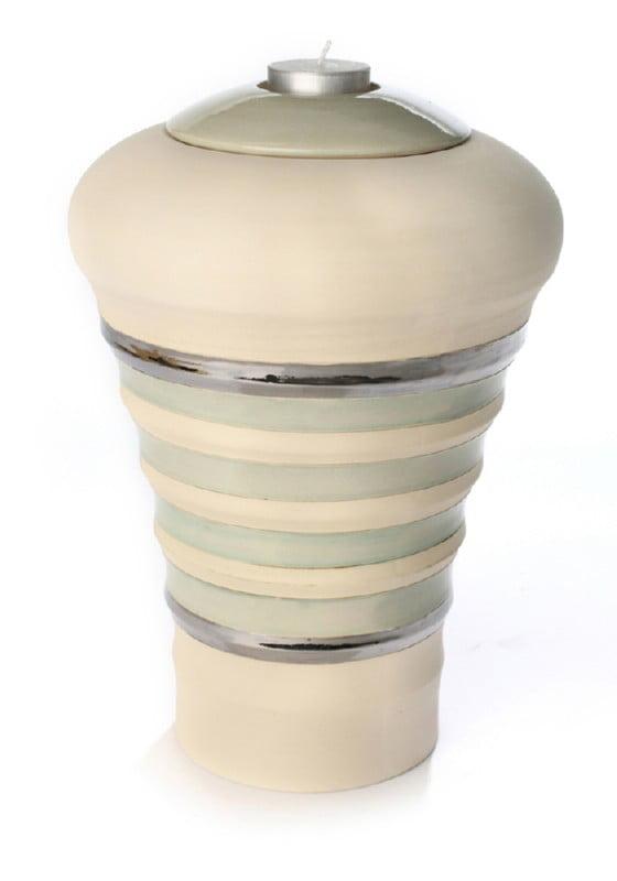 keramiek urn purity naturel pistache