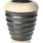 keramiek urn pure naturel zwart