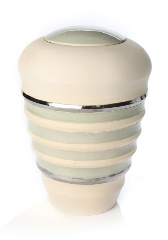 keramiek urn pure naturel pistache