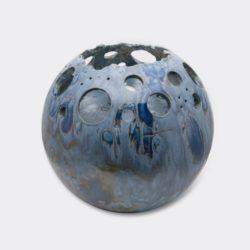 windlicht urn blue sparkle