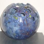 windlicht urn ice blue sparkle