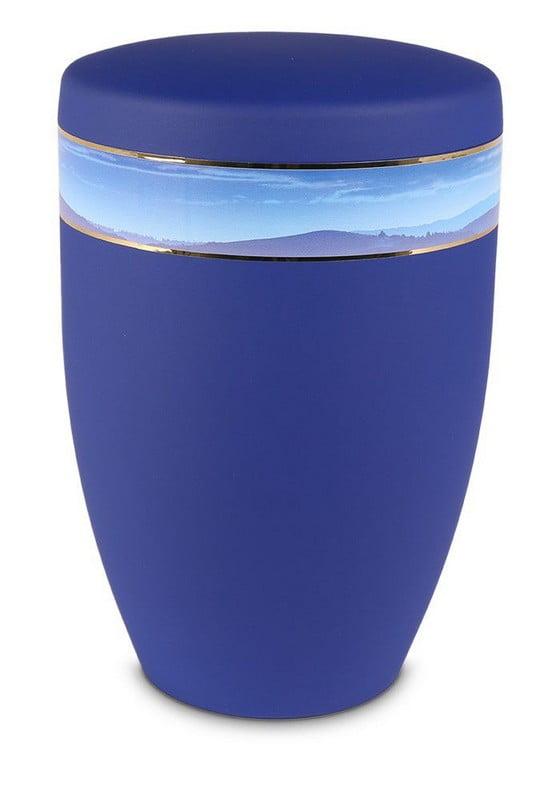 uitzicht berg blauw biologische urn
