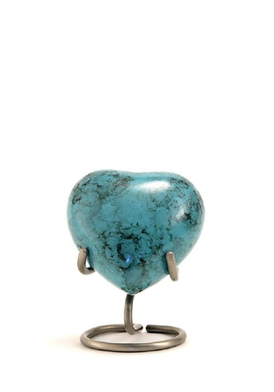 mini urn hart gemarmerd blauw glenwood