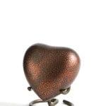 mini urn hart koper zwart glenwood