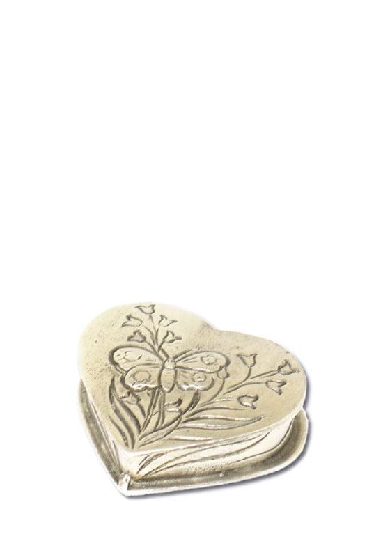 mini urn hart met vlinder