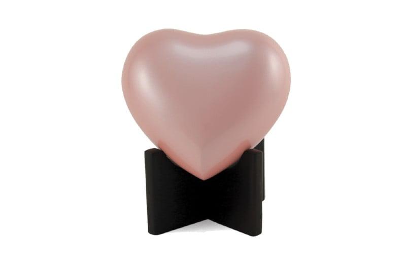 mini urn hart roze arielle pearl