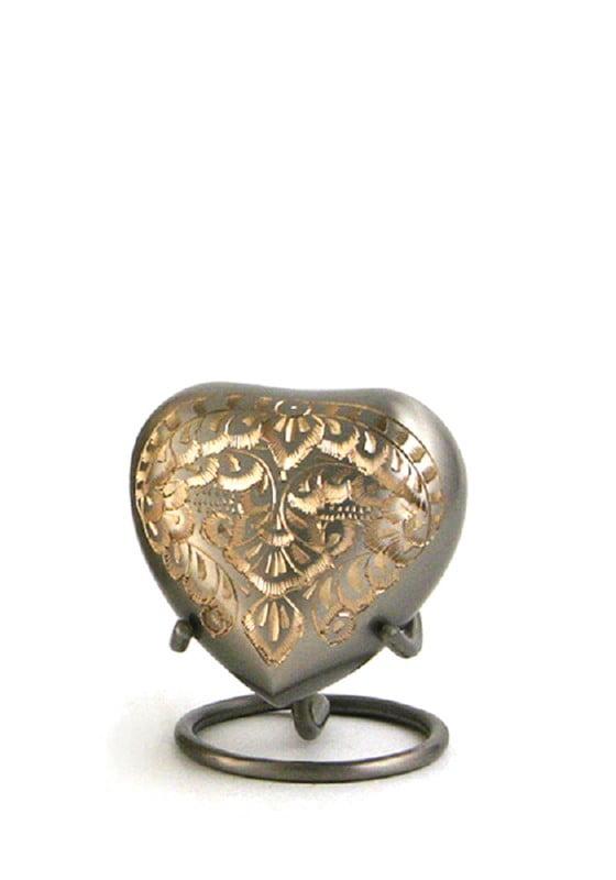 mini urn hart zilver goud classic platinum