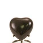 mini urn hart zwart bruin maus earth