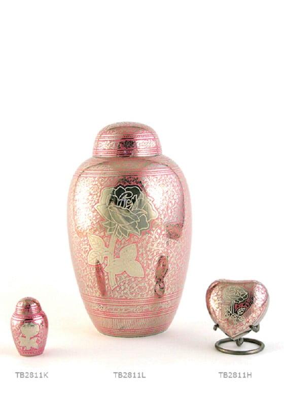 serie urn zilver roze rose