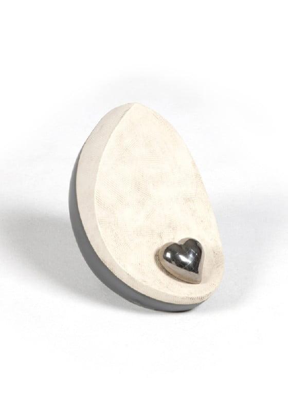 mini urn dakri zwart wit