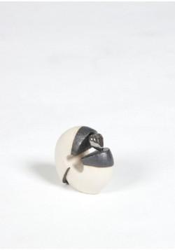 mini urn kiklos wit zwart