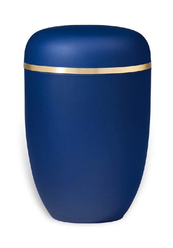 urn mat blauw goudband