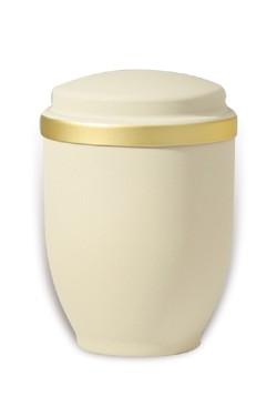 urn mat creme goudband medium