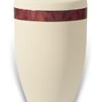 urn mat creme houtband