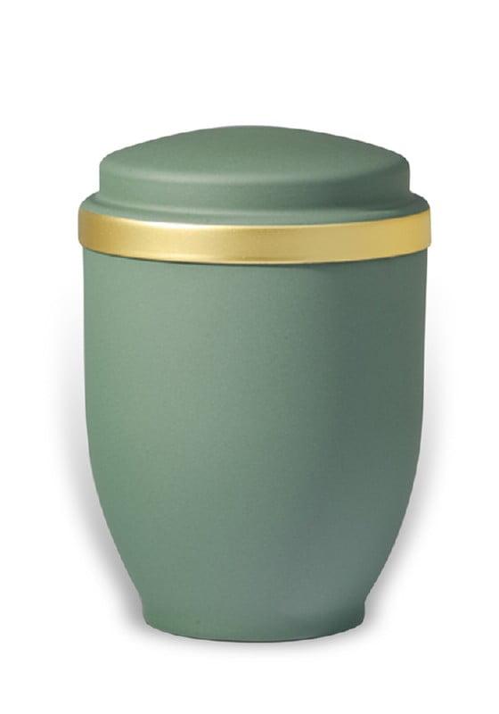 urn mat groen goudband medium