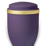 urn mat paars goudband medium