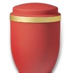 urn mat rood goudband medium