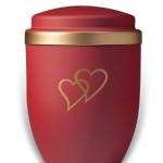 urn mat gouden harten medium